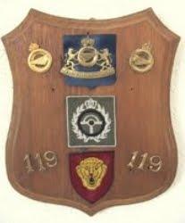 Insignes et Ecussons à la 119e Cie