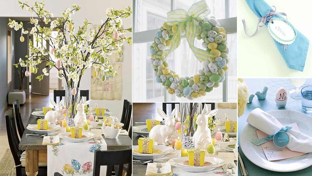 Yours moment easter tabletop decorations series 1 for Easter decorations ideas for the home