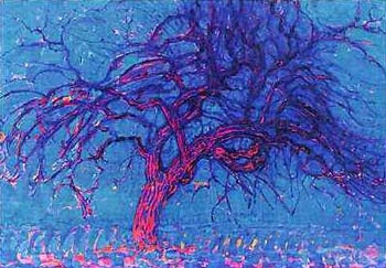 piet mondrian avond peit mondriaan peter red tree peiter pieter netherlands holland artist painter paintings photos pictures images photo artwork neo plasticism plastic