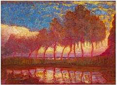 piet mondrian eleven poplars peit mondriaan peter peiter pieter netherlands holland artist painter paintings photos pictures images photo artwork neo plasticism plastic
