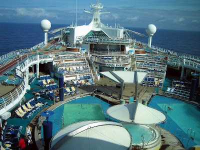 explorer of seas voyager passenger cruise ships royal caribbean carribean west indies luxury freedom class golf course swimming pool tourism tourists travel yacht sailboat casino
