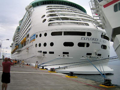 explorer of seas voyager passenger cruise ships royal caribbean carribean west indies freedom luxury class golf course swimming pool tourism tourists travel yacht sailboat casino