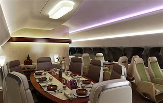 Boeing 747-8 VIP Business Jet BBJ private jets aircraft plane USA new york Lufthansa Australia Europe London Singapore transcontinental cost facilities décor billionaire cockpit cabin