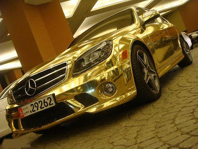 solid gold mercedes benz car golden plated paint cost price interior wheels merc
