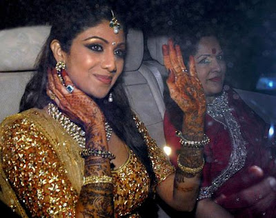 shilpa shetty sangeet photos raj kundra mehendi photographs