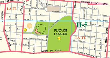 Mapa Territorial Del Ensanche La Fe