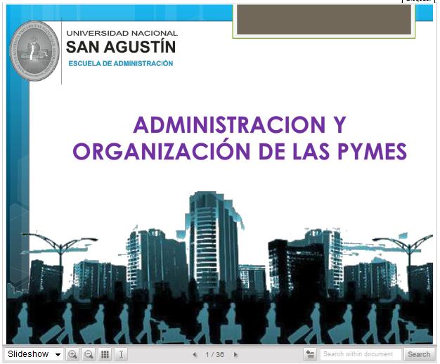 EXPO: Administracion y Organizacion de las Pymes