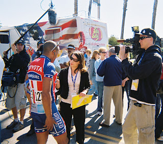 TV interview in Santa Barbara