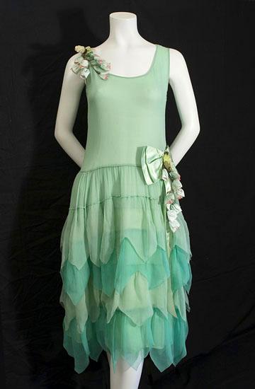 Aqua Flapper Dress pictures