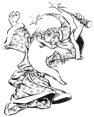 Bart Sears Wizard Mascot - Jumping