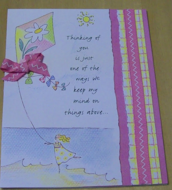 From recycled card, and added ribbon