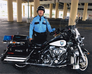 Martin Gonzalez, a retired member of the Houston Police Department Solo Motorcycle Detail