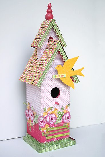 Be Brave Birdhouse by Juliana Michaels