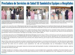 Prestadora de Servicios de Salud SS,  suministra equipos a Hospitales