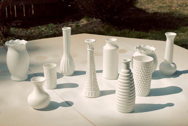 marry you me diy faux milk glass vases. Black Bedroom Furniture Sets. Home Design Ideas