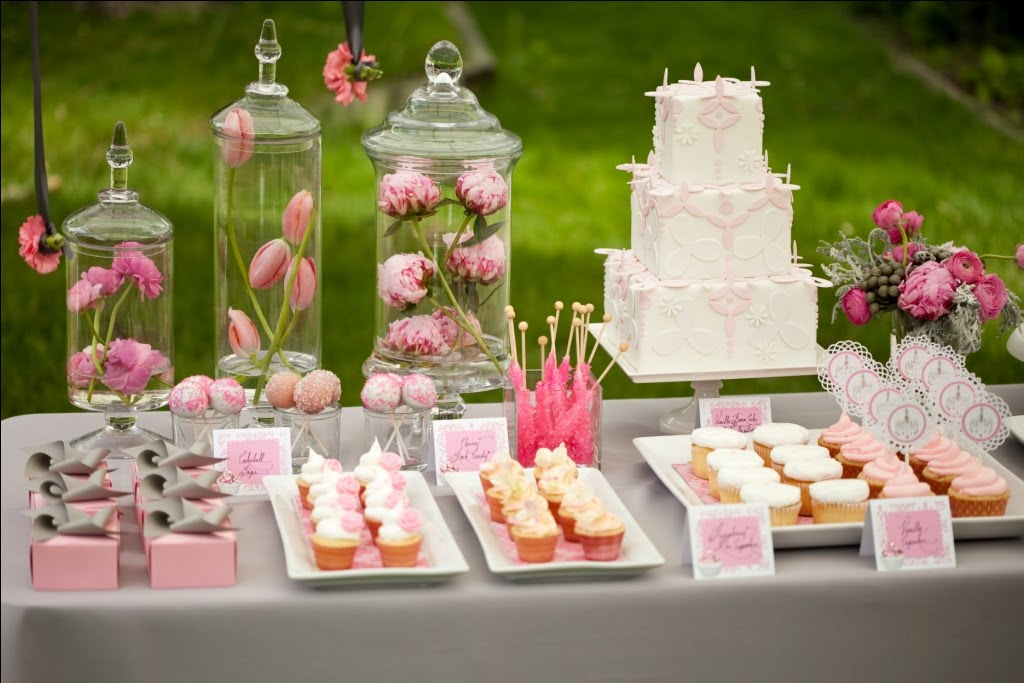 Marry You Me: Sweet Pink Dessert Table by Eat Drink Pretty