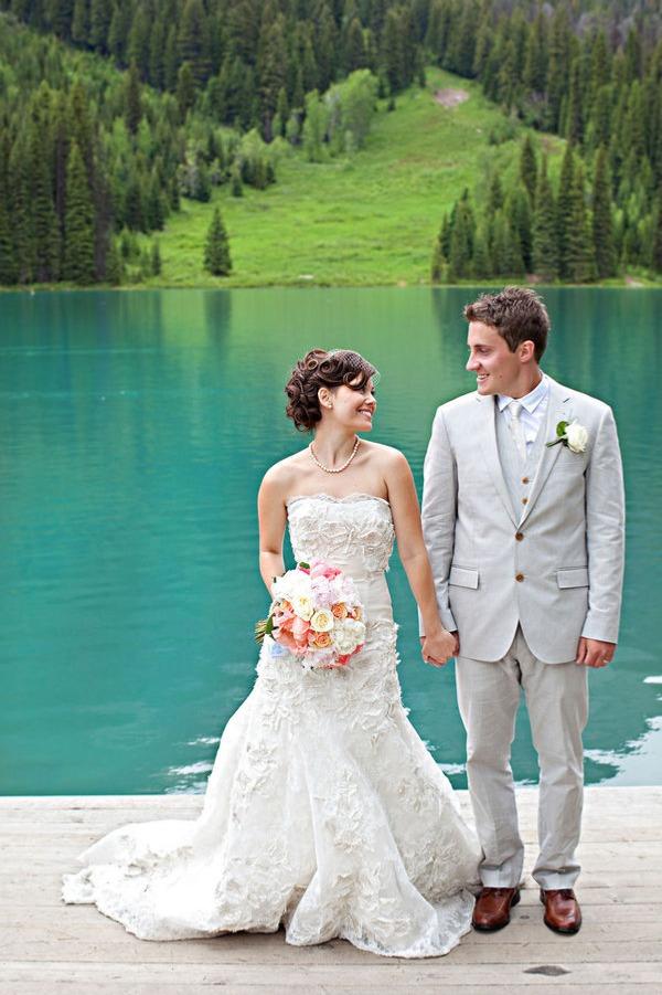 Real Wedding Colorful Canadian Lakeside Wedding