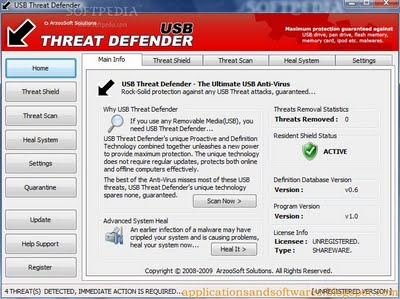 USBThreatDefender Protect your  system from threats coming through USB