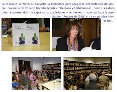 Presentación del libro (De roca y yerbabuena) en Ecija (Sevilla)