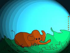 Elefante a punto de dormir