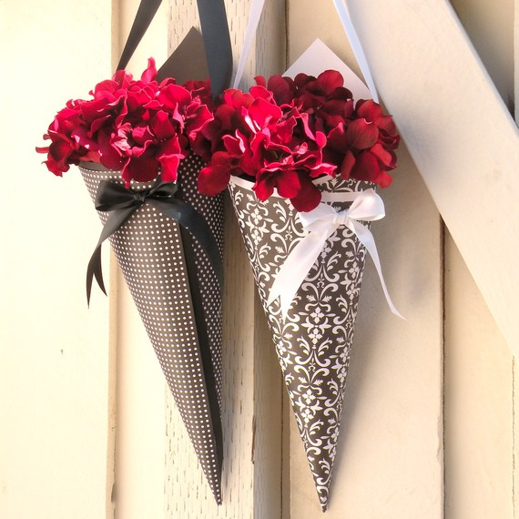 Designs studio co diy paper cones decorate with flowers ribbon lace or even feathers our favourite this season anything goes so just use your imagination and your fabulous personality mightylinksfo