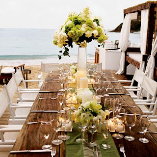 summer wedding chairs and table decorations