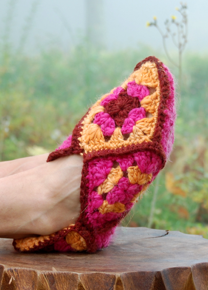 Crochet Granny Square Slipper Pattern : Crochet Philippines: Free Crochet Pattern: Granny Square ...