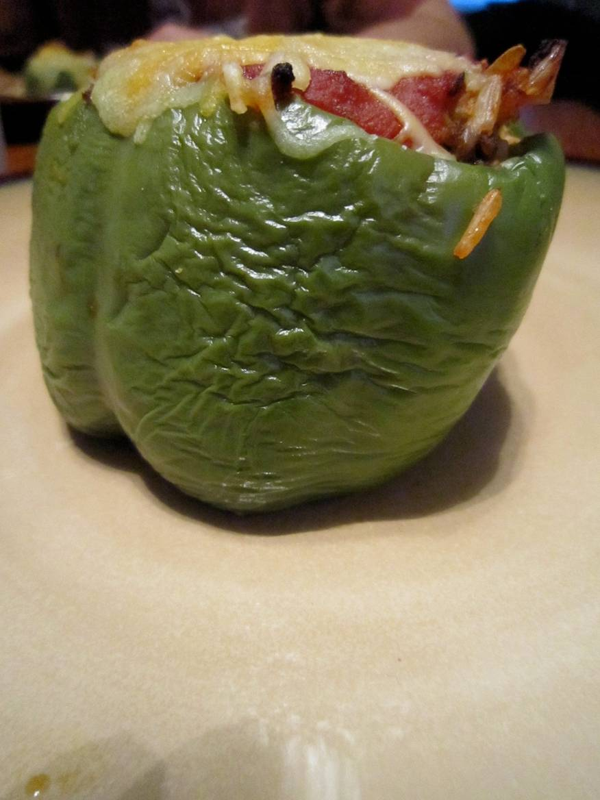 Living a Changed Life: Recipe Review: Stuffed Green Peppers