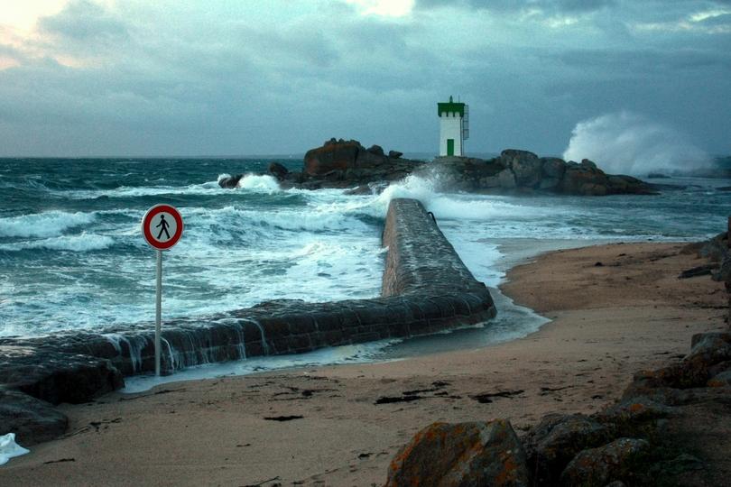 Trévignon : tempête du 8 nov. 2010.