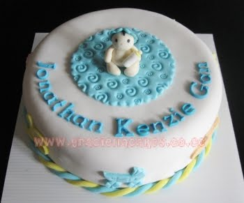 Manye One Month Old Baby Cake For Kenzie