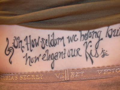 script writing tattoos. script writing tattoos