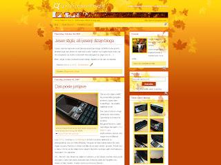 Jesenji dizajn bloga