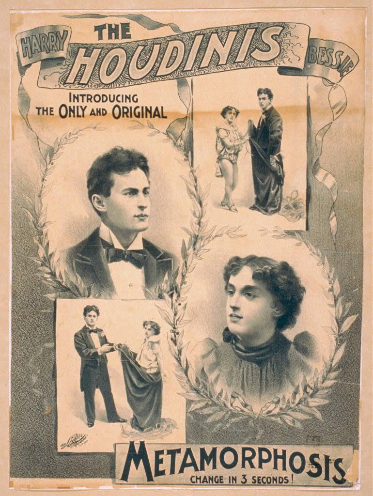 Vintage Posters   Harry Houdini   Starsunflower Studio Blog