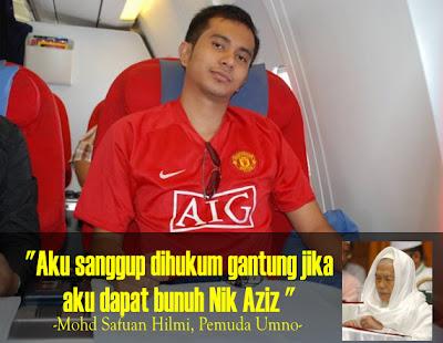 foto Mohd Safuan Hilmi Nak Bunuh Nik Aziz