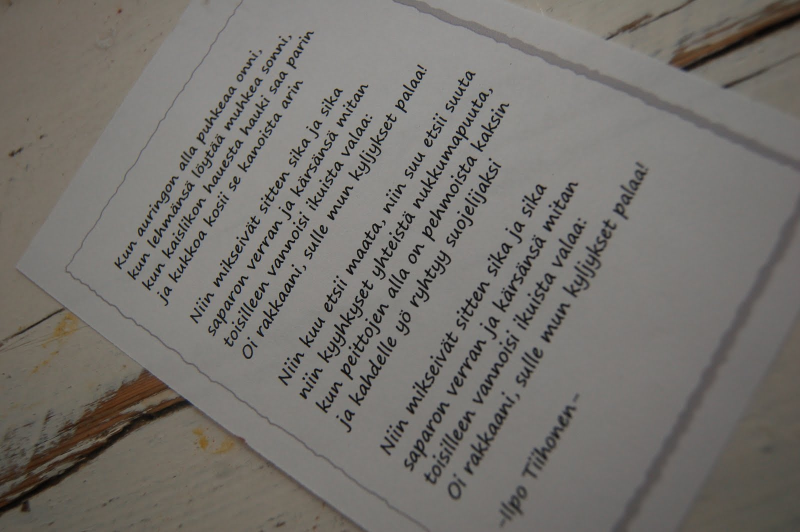 ystävä runo hauska Pietarsaari