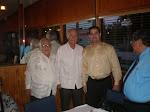 Jorge Gastón, el Comisionado Javier Souto, J.C. León y Lester Avilés