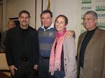 J.C. León, Juan Manuel Cao, Gina Montaner y otro colega
