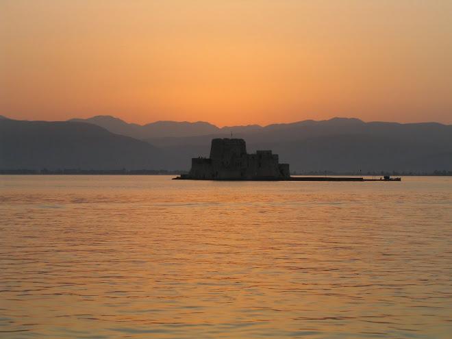 Tramonto sul golfo di Nafplion