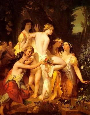 """""""El baño de Venus"""". Auguste Glaize, Mónica López Bordón, poesía, Editorial Playa de Ákaba"""
