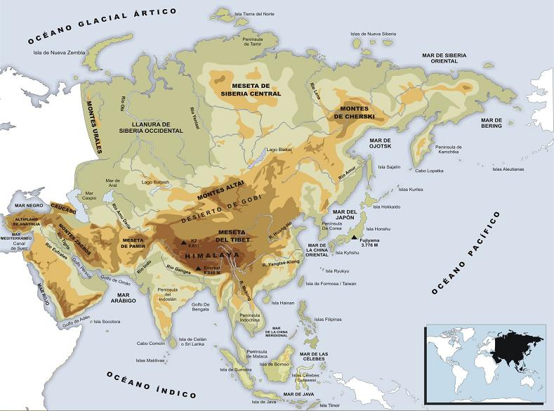 ... : Historia, Geografía y otras Ciencias Sociales: Gª: Mapas físicos
