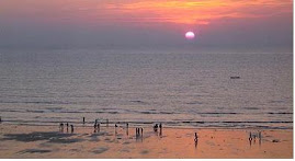 sunset @ juhu beach