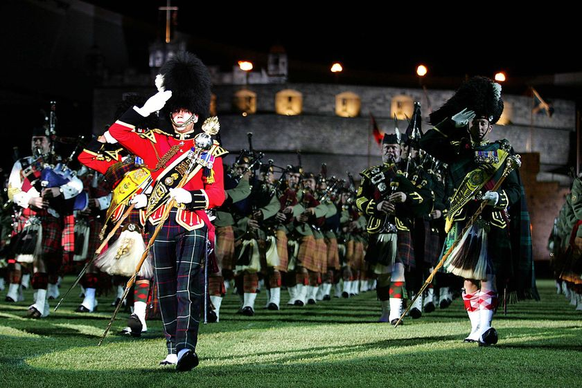 The Edinburgh Military Tattoo was first staged in 1950; it combines the