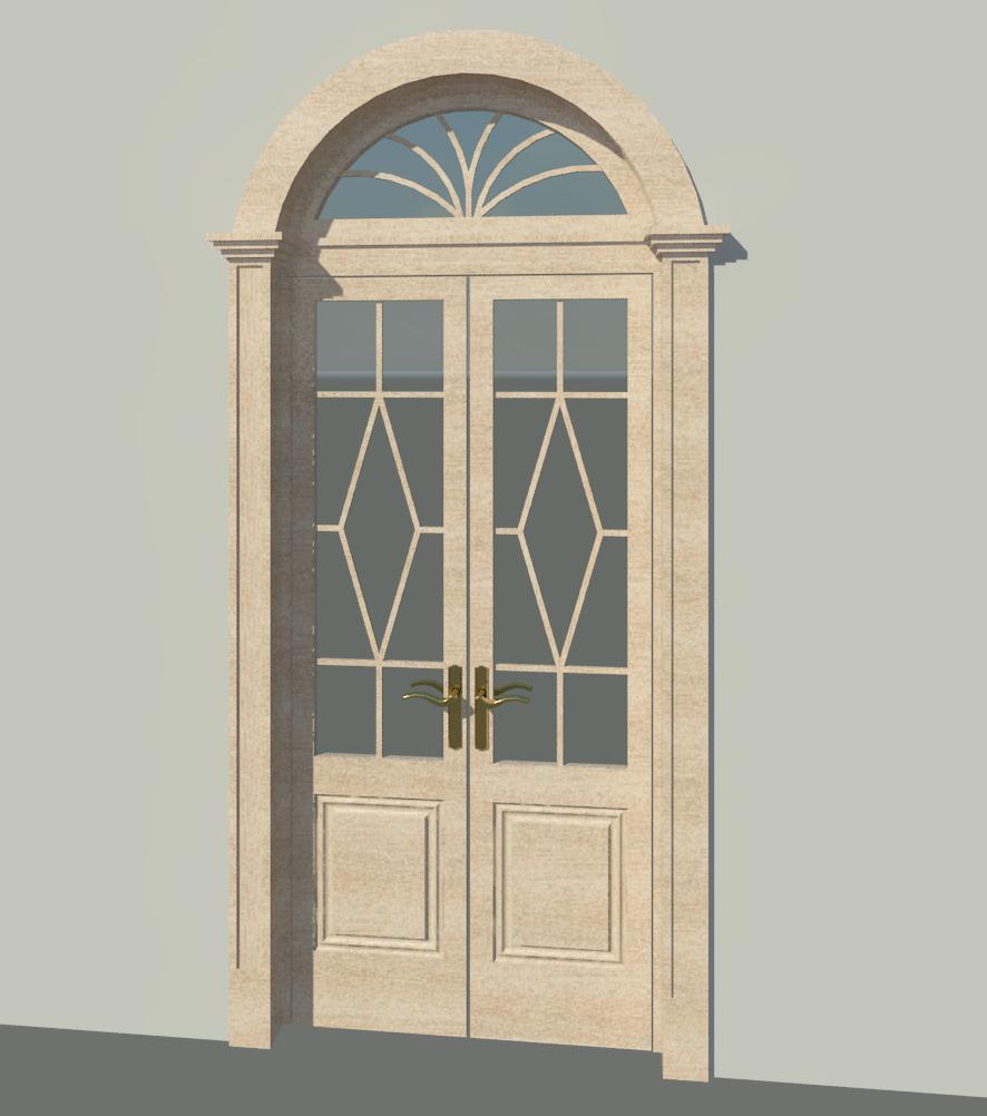 Revit families for architecture interior old door porta for Exterior door opening window
