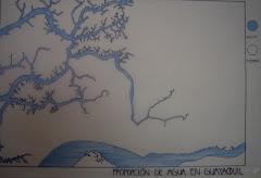 Proporcion de Agua vs tierra en Gye