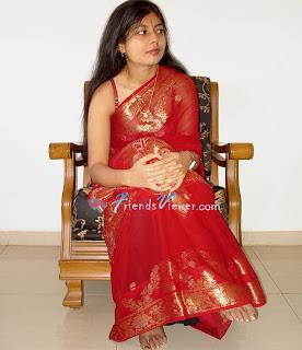 Indian girl stripping saree man