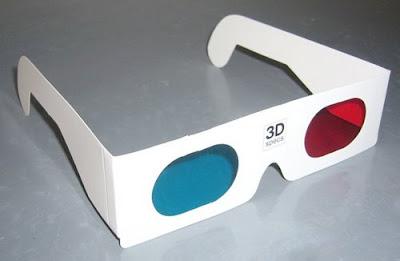 Un ojo y de color azul sobre el otro con el objeto de percibir en cada