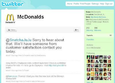 McChronicles: Follow McDonald's on Twitter