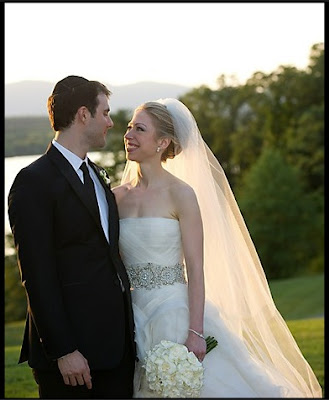 chelsea clinton wedding photos. chelsea clinton wedding dress.