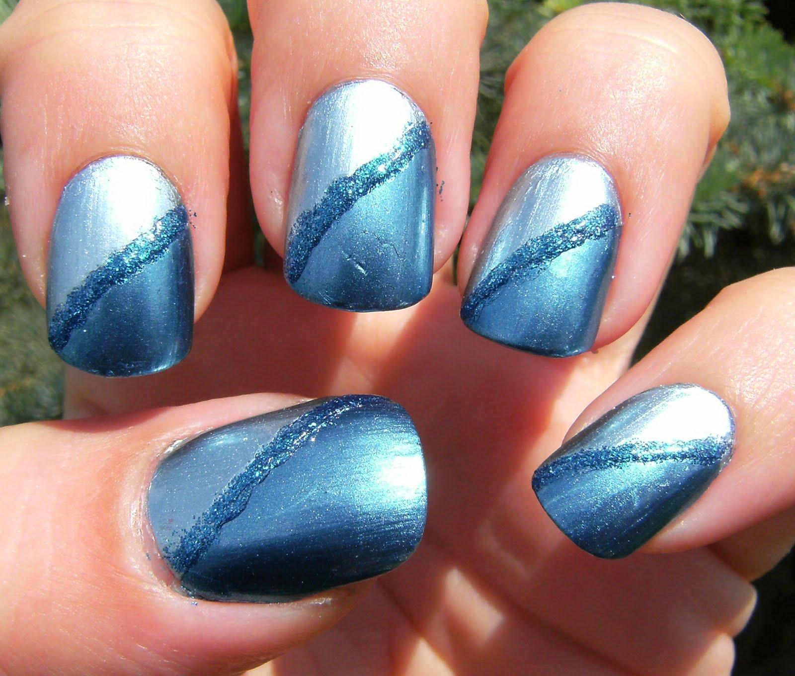 Deez Nailz: ♥ Sally Hansen Aqua Chrome Sapphire Chrome and Pure Ice ...