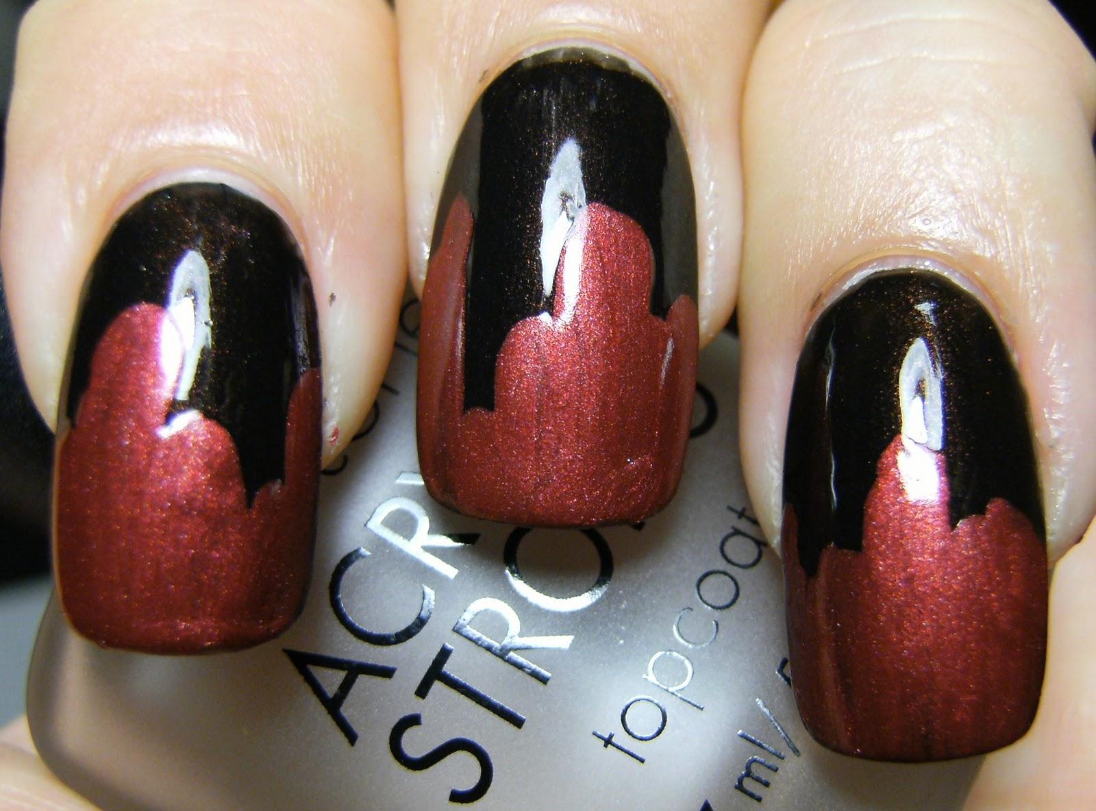 Deez Nailz: Super easy blood dripping mani
